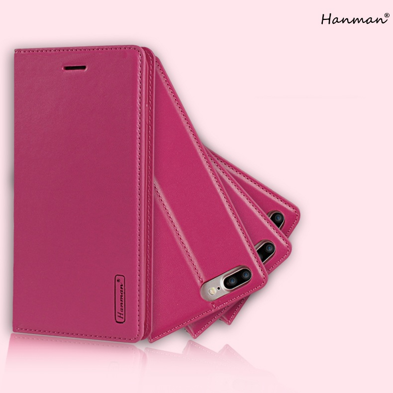 iPhone 7P/8P Leather Slim Flip Cover Hanman Simple Style