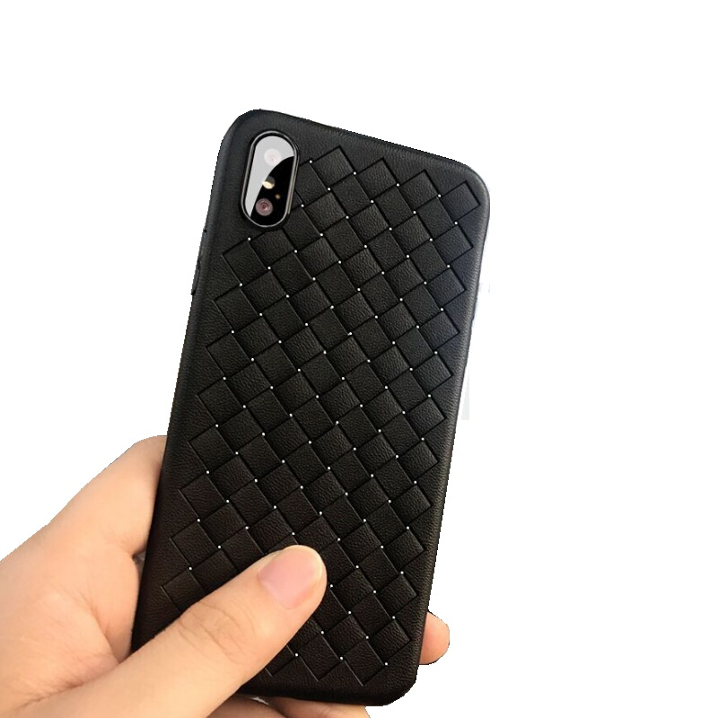 iPhone X Burberry Style Woven Pattern TPU Case
