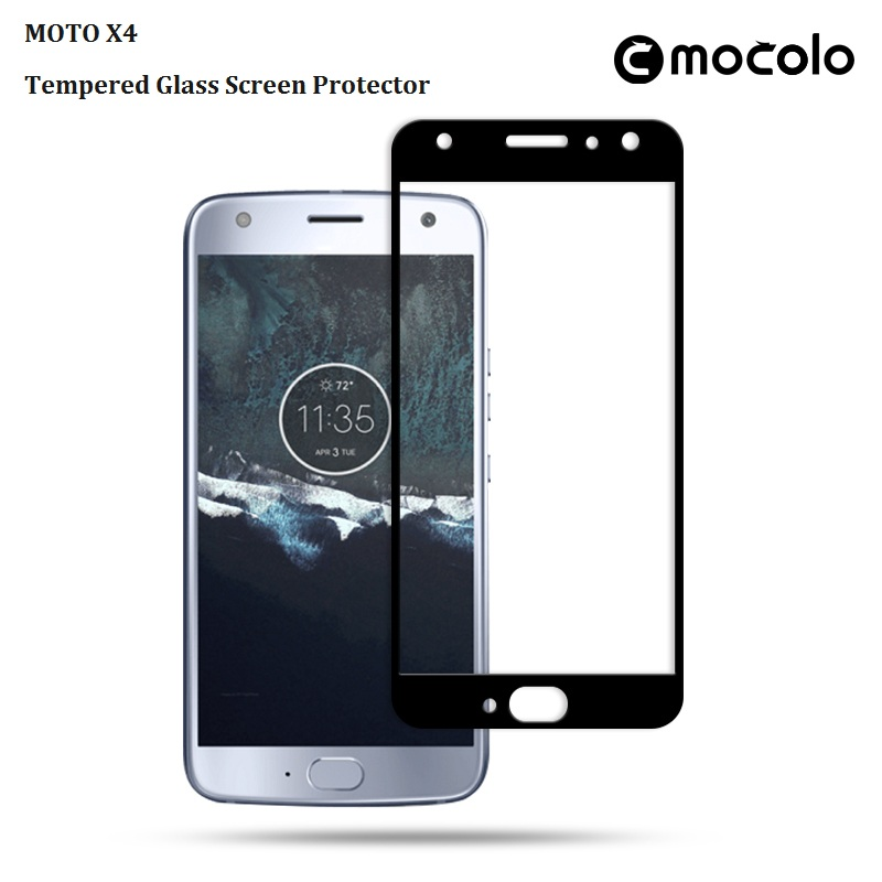 MOTO X4 Mocolo Silkprint Tempered Glass Screen Protector