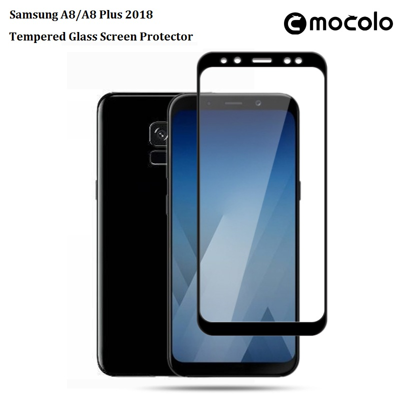 Samsung A8/A8 Plus 2018 Silkprint Tempered Glass Screen Protector