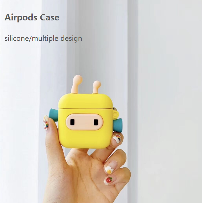 Airpods Headsets Cover Cartoon Multiple Designs Protective Silicone Case Apple